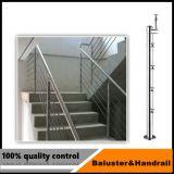 Pilier en verre de pêche à la traîne d'acier inoxydable pour l'escalier ou la terrasse