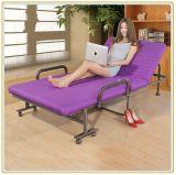 Confortável Cama Extra Dobrável De Metal Para Relaxamento De Lazer