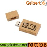 Movimentação de madeira ambiental da memória Flash do USB com seu logotipo