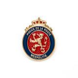 Emblema de metal de esmalte especial personalizada do pino da barra de cadeia de moedas do clipe