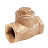 La válvula de retención de giro de rosca de bronce