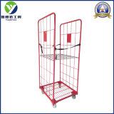 Bon de transport pliable de vente et de stockage de palettes de la cage de rouleau/rouleau/rouleau conteneur