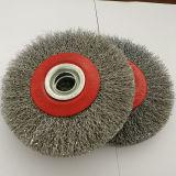 spazzola circolare della spazzola della rotella del filo di acciaio 5inch per la smerigliatrice (YY-639)