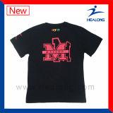 組合せとのHealongのブランドのロゴは販売のためのスポーツ・ウェアのシルクスクリーンの印刷の人のTシャツを大きさで分類する
