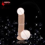USA vermarkten heißes Silikonerwachsenes Dildo-Penis-Geschlechts-Spielzeug für FrauenPussy (DYAST397A)