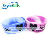 2016 nuovo Debossed Color Filled Silicone Bracelet con Customized Logo