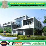 Casa temporal prefabricada de acero ligera de la escuela del dormitorio de la oficina del panel de emparedado