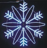 Decorazioni esterne illuminate natale di motivo del fiocco di neve di natale