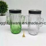Bottiglia di vetro di buona qualità di prezzi competitivi, vaso di muratore, tazza del muratore con la maniglia