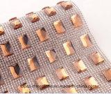 장방형 최신 고침 메시 장방형 접착성 메시 모조 다이아몬드 메시 롤 (TM-246 장방형 5*15mm)