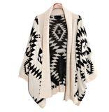 2017 senhoras novas que fazem malha o Poncho do casaco de lã da roupa frouxamente