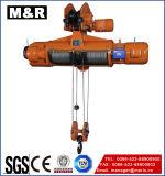 Alzamiento eléctrico de la cuerda de alambre de 5 toneladas con sola velocidad