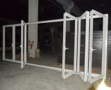 60série quebra térmica porta dobrável de alumínio com cortinas ou persianas internas