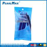 Rasoir remplaçable matériel en plastique bon marché de vente chaud d'acier inoxydable de lames de jumeau de traitement
