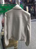 Женщин на 100%PU с молнией тканого куртка