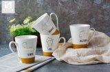 12oz V forme tasse de café en porcelaine de Chine avec le logo de l'impression