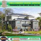 La estructura de acero que construía el almacén de varios pisos/prefabricó los hogares/las casas barato prefabricadas