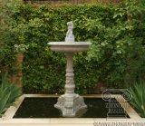 Petite fontaine en pierre de marbre, avec chérubin et Dolphin Statue