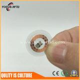 Tag personalizado do disco do tamanho PVC/Pet RFID para o seguimento do recurso