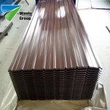 Gi del rivestimento di PPGI usato per le mattonelle di tetto d'acciaio ondulate di colore della bobina
