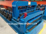 Doppelte Plattform-Dach-Fliese-Rolle, die Maschine von China bildet