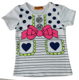 Fashion Girl T-Shirt avec verre d'impression Sgt-043