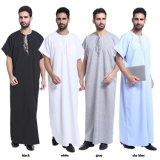 회교도 의류 간결 소매 아랍 남자의 Abaya 겉옷