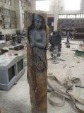 Standbeeld van de Vrouw van de Tuin van de Steen van de lava het Naakte