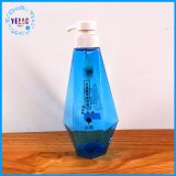 cosmético plástico do frasco da forma 500ml que empacota com bomba