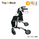 Topmedi Medical Folding Aluminum Walker Rollator per Elderly Disabled