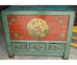 Armário pintado Gansu antigo chinês Lwb089 da mobília
