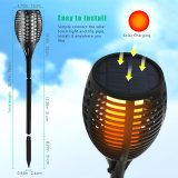Solar LED linterna LED de la llama ardiente llama parpadeo de luz de la luz