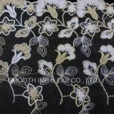 Cotone accessorio della tessile della decorazione del tessuto del merletto del ricamo del filato dell'indumento di modo