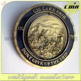 Moneta d'ottone antica del parco di crociera del metallo per il ricordo
