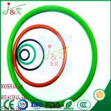 Caoutchouc de silicones, caoutchouc de FKM, noir, joints circulaires verts pour le cachetage