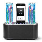Double haut-parleur hypnotique de Bluetooth d'orateur de fontaine de haut-parleur de dock de fontaine