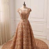 花嫁衣装と結婚する最も新しい帽子の袖の金の長い尾の花