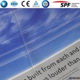 vidrio claro adicional completamente templado de 3.2m m para la cubierta del colector solar