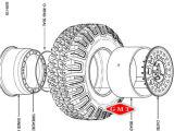 2 шт сплава внутренний Vihicle Bead-Lock ободов для военных