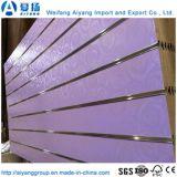 Commerce de gros panneaux de mélamine ou PVC Slatwall, MDF Slatwall, MDF