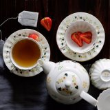 簡単で創造的な浮彫りにされた金メッキの陶磁器のイギリスのコーヒー皿