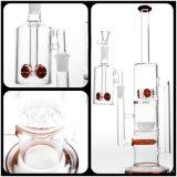 Nouveau style de tuyau Tuyau eau en verre avec l'Amérique percolateur rouge et le Trou arbre tuyau tuyaux de verre à eau en verre