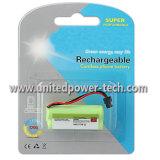 再充電可能なNiMH AAA*2 2.4V 800mAhのコードレスフォン電池