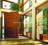 現代住宅フレームの木のピボットドア