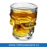 Para licores en forma de cráneo Shot de la copa de cristal