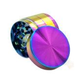 Cuatro Partes Dazzle Molinillo Hierbas de aleación de zinc de color