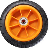 Roda do PVC de 6 polegadas com a borda de aço para o carro e o Wheelbarrow da mão