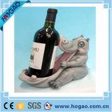 Houder van de Fles van de Wijn van de Zwaan van de Hars van de Houder van de Wijn van Decoraion van de hars de Dierlijke