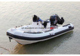 Barco de motor de la costilla de Aqualand 16feet los 4.8m/bote de salvamento inflable rígido (RIB470A)