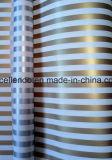 Carta da imballaggio dorata del regalo delle strisce per l'imballaggio Premium del regalo